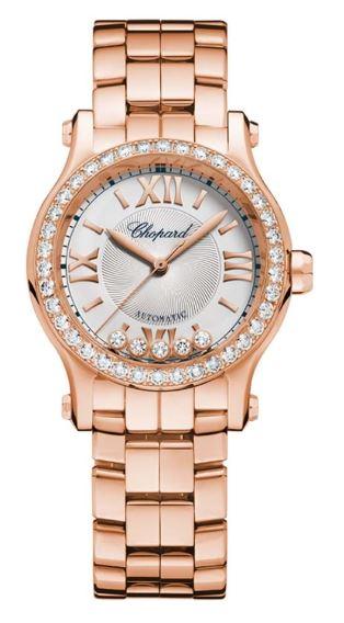 Ladies Chopard 18k Rose Gold Happy Sport Watch