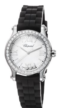 Ladies Chopard Rubber Strap Happy Sport Watch