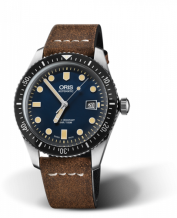 Divers Sixty-Five 42 Stainless Steel / Blue / Calf