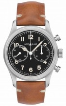 1858 Automatic Chronograph Stainless Steel / Black / Calf