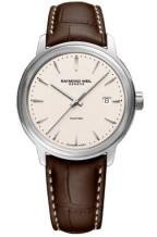 Gents Maestro Automatic Cream / Strap Watch