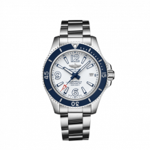Superocean 42 Stainless Steel / White / Bracelet